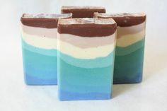Caribbean Beach Soap / Cold Process Ombre by SweetnCharmingSoaps, $5.25