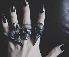 black metal jewelry