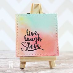 Mini Canvas Die, Paint your Canvas stamps from Lil' Inker Designs