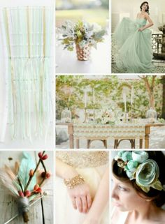 Mint & Gold wedding 1