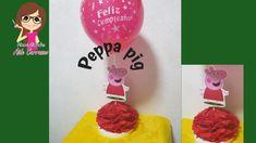 COMO HACER CENTRO DE MESA PEPPA PIG