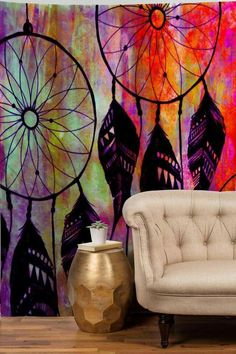Oh wow! A psychedelic dream catching living room