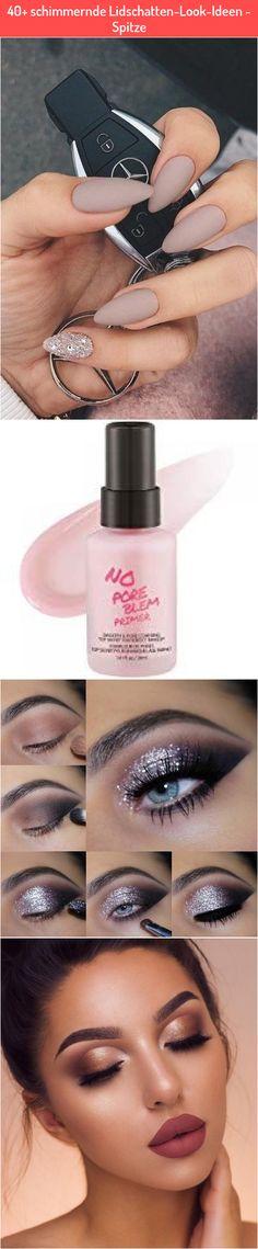 40+ schimmernde Lidschatten-Look-Ideen - Spitze Best Makeup Primer, Best Makeup Products, Lipstick, Beauty, Lace, Ideas, Lipsticks, Beauty Illustration