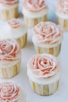Grapefruit cupcakes with honeyed italian meringue buttercream.. I almost just fainted with delight.