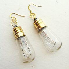 Steampunk Lightbulb Earrings by NBetween on Etsy, $5.25
