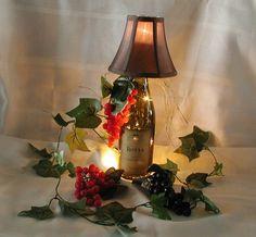 Repurposed wine bottle lamp by CRwinebottles on Etsy, $35.00 SOLD