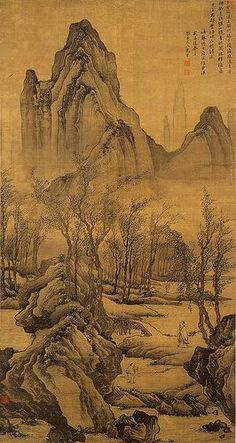 """Tang Yin (1470–1524) is one of the most notable painters in Chinese art history. He is one of the """"Four Masters of Ming Dynasty"""" (Ming Si Jia) 唐寅,明代著名畫家、文學家。字伯虎,以字行;號六如居士、桃花庵主等,南直隸蘇州吳縣人。吳中四才子之一。在畫史上又與沈周、文"""