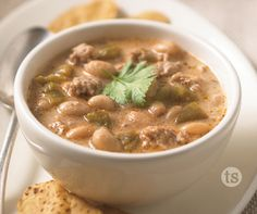 Wahoo! White Chili Recipe │Creamy white bean and ground turkey chili makes a hearty meal for the cold winter months.