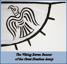 Viking Raven Banner from the Great Heathen Army of 865, lead by Ivar the Boneless. East Anglia, England.