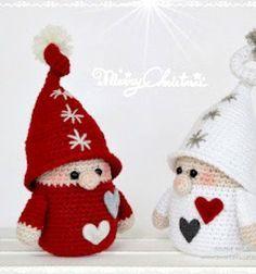 Amigurumi Christmas gnomes ( free crochet pattern ) // Horgolt karácsonyi manók ( ingyenes horgolásminta ) // Mindy - craft tutorial collection // #crafts #DIY #craftTutorial #tutorial #crochet #freeCrochetPattern #Horgolás #Horgolásminta