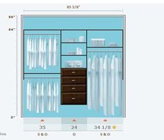 Just Playing With Martha Stewartu0027s Tool ... This Is An 8u0027 Closet Design