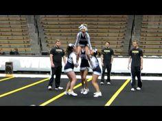cheerleading stunt routine - YouTube Easy Cheer Stunts, High School Cheerleading, Cheer Tips, Cheer Coaches, Cheer Mom, Cheer Stuff, Team Cheer, Cheer Flyer, Sports