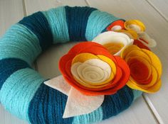 Yarn wreath