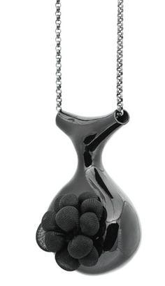 """Catherine Allen, """"gut feelings"""" (pendant) 2009, electroformed copper, enamel, heat-set polyester"""