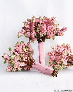 Wedding, Flowers, Pink, Bouquets