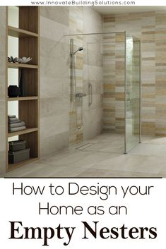 We have 6 design tips you need to check out for your Empty Nester home! Design tip #4 has some really cool features in it you probably have never thought of! Read more here - Innovate Building Solutions | Home Organization | Empty Nester | Master Bedroom | Home Remodeling | #DIYHomeRemodel #EmptyNester #SeniorHomes #HomeRemodeling Design Your Home, House Design, Pantry Shelving, Storage Shelves, Home Organization, Home Remodeling, Cool Shelves, Master Bedroom, Diy Bathtub