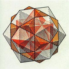 Four Regular Solids - M.C. Escher