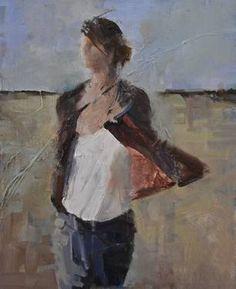 """Plein Air, 2014,"" original portrait painting by artist Fanny Nushka Moreaux (France) available at Saatchi Art. #SaatchiArt"