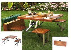 Portable Picnic Table Outdoor BBQ Party  Church Garden Backyard Patio Seat