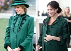 Meghan Markle in Victoria Beckham and Kate Middleton in Catherine Walker for Commonwealth Service - Dress Like A Duchess Meghan Markle Dress, Meghan Markle Style, Kate And Meghan, Prince Harry And Meghan, Kate Middleton Coat, Princess Diana Fashion, Princess Meghan, Real Princess, Catherine Walker