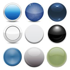 Stylish and glossy looking 9 different web buttons in different styles and color schemes. The buttons are rounded shape with rim, flat, cubic, dice and other styles. Enjoy!!
