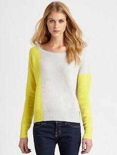 360 Sweater - Peri Cashmere Colorblock Sweater - Saks.com