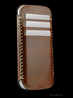 Galaxy S 3 Leather Lusio case by Sena Cases in Laguna Brown