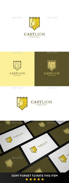 Lion Castle Logo Template: Animal Logo Design Template by ardies. Logo Design Template, Logo Templates, Cheap Logo, Tiny House Storage, Lion Logo, Portfolio Logo, Branding, Free Logo, Animal Logo