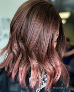 Golden Brown Balayage - 20 Best Golden Brown Hair Ideas to Choose From - The Trending Hairstyle Brown Ombre Hair, Brown Hair Balayage, Brown Hair With Highlights, Light Brown Hair, Color Highlights, Blonde Hair, Cabelo Rose Gold, Rose Gold Hair, Pink Hair