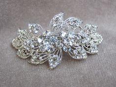 Rhinestone Hair Clip / Fancy Rhinestone Bridal Hair Clip / Wedding Hair Clip / Special Occasion. $20.00, via Etsy.