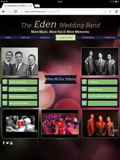 Our new website was launched just last week and here is our look & listen gallery. Please check it out www.edenband.ie