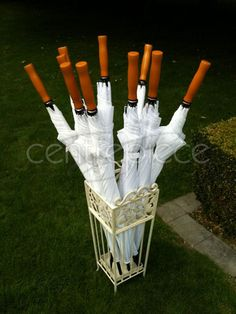 Golf Umbrella White (Set of 10 with stand)