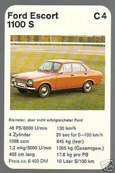 Ford Escort 1100 S Top Trumps, Ford Escort, Mk1, Cars And Motorcycles, Rally, Hot Wheels, Classic Cars, Automobile, Youth