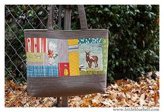 Scrappy Tote by Adrianne Ove  Pattern: Perfect Quilted Totes by Elizabeth Hartman   #quilting #patchwork #tote