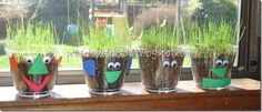 Growing grass will be great for my seed unit!  Thanks to Lindsy's blog for the cute idea.