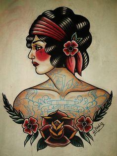 Traditional tattoo...