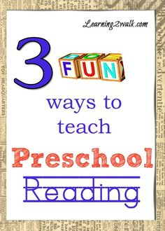Looking for a fun way to teach your kids how to read? Try these 3 fun ways to teach Preschool Reading