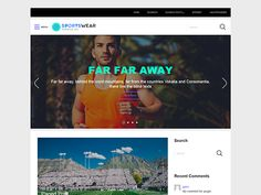 Fashionable and sporty design of the free WordPress theme SportsWear attracts many people as well as yours. This sport WordPress theme can be a perfect base for your ecommerce website. Place the most relevant products into the slider to engage visitors to your page. And the rest pages may be without slider if you wish. All the options can be set in the dashboard of your website with ease and without learning. Even documentaion is not necessary thing