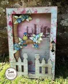 Secret Key Cubby by Sam Lewis AKA The Crippled Crafter. Featuring MDF by Daisy's Jewels & Crafts.  http://www.thecrippledcrafter.co.uk/2017/05/secret-key-cubby-daisys-jewels-and.html  #thecrippledcrafter #daisysjewelsandcrafts #mdf #alteredart #crafterscompanion #shabbychic #bluetit