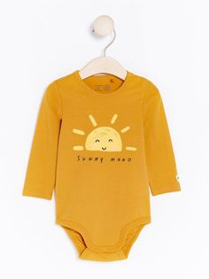 023e2f104 Yellow Bodysuit with Print £7.99     Follow our Pinterest page at  @deuxpardeuxKIDS for