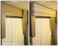 diy pelmet to block out light for sleeping nightshift nurses :-)