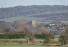 Wye Church taken from fields to the south