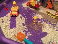 Building site Themed Tuff Tray for Toddlers-EYFS Children Baby Room Activities, Eyfs Activities, Activities For 2 Year Olds, Infant Activities, Tuff Tray Ideas Toddlers, Nursery Layout, Nursery Ideas, Room Ideas, People Who Help Us