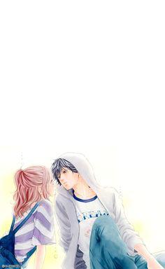 Kou and Futaba - Ao Haru Ride Best Shoujo Manga, Manga Anime, Anime Love Couple, Cute Anime Couples, Anime Ao Haru Ride, Futaba Y Kou, Blue Springs Ride, Disney Princess Fashion, Angel Wallpaper