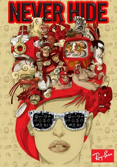 RayBan Never Hide Poster.