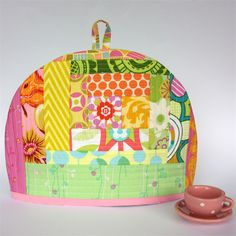 Quilted Patchwork Tea Cosy - Secret Golden Squirrel of random awesomeness! | monkey & bee | madeit.com.au