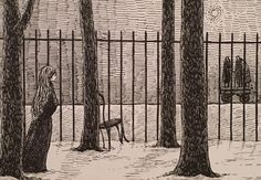 A week later they noticed someone who might be Nellie walking in the grounds of the Weedhaven Laughing Academy. #TheWillowdaleHandcar #EdwardGorey