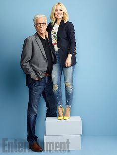 Comic-Con 2016 Star Portraits: Day 1 | Ted Danson and Kristen Bell, 'The Good Place' | EW.com