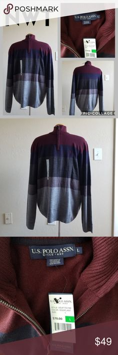 06fd86e15083 Large U.S. Polo Assn. Sweater New with tags! Tag price   70.00 Zipper is
