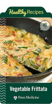 Easy recipe for veggie frittata!